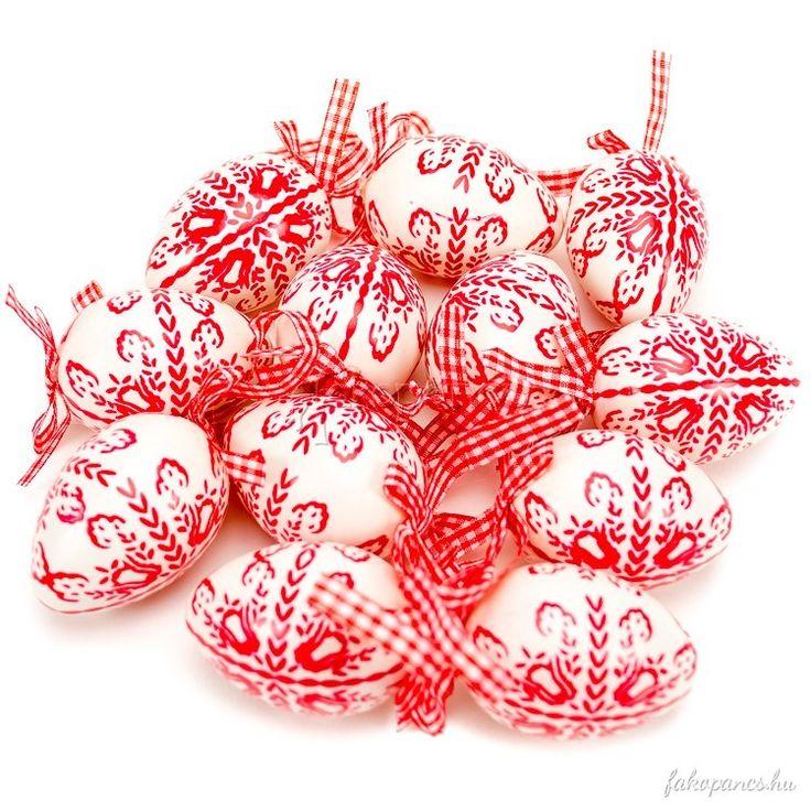 Dekoráció :: Húsvéti dekoráció :: Húsvéti tojás 12 db-os (hímes, fehér) - Húsvéti dekoráció - Fajáték és Játékbolt - Online Játékbolt - Játék Webáruház!