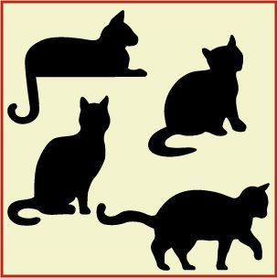 Animal Stencils For Quilting : 27 best Silhouettes of cats images on Pinterest Black cats, Silhouettes and Black cat silhouette