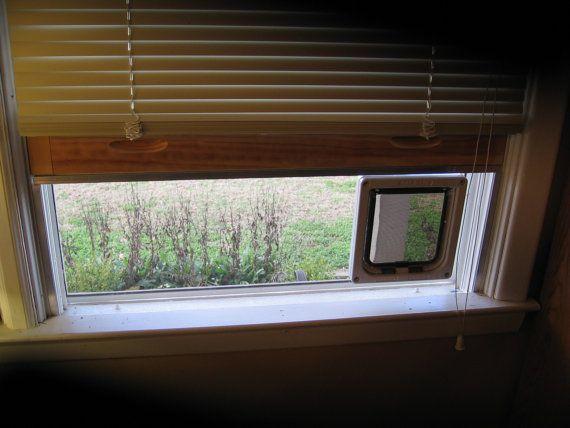 Large Clear Plexiglass Window Mounted Cat Door By