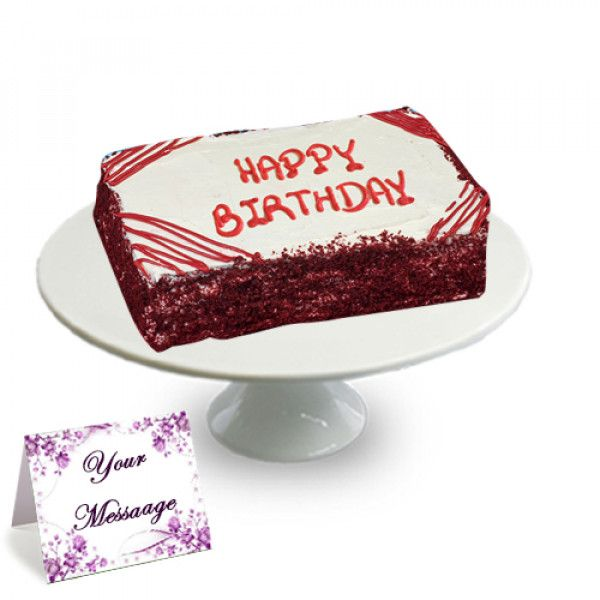 Surprising Colossal Red Velvet Happy Birthday Sheet Cake Have Your Cake And Personalised Birthday Cards Xaembasilily Jamesorg