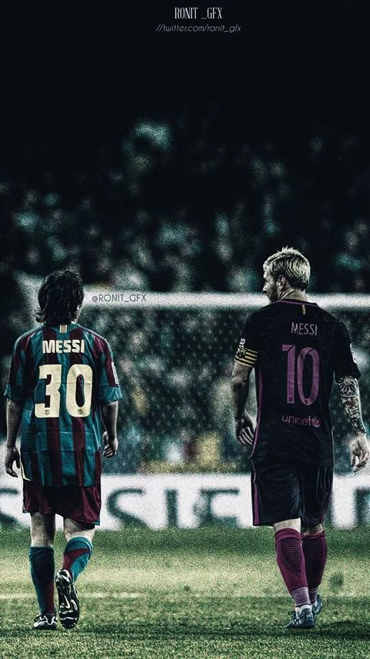 Messi then and now
