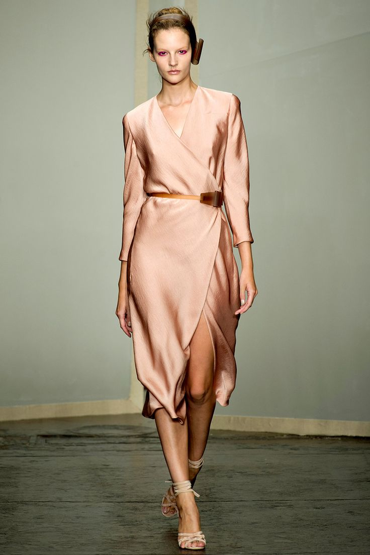 Donna Karan  Vogue's Guide to Spring 2013 Fashion Satin for Day  From Vogue            via Haruko Endo