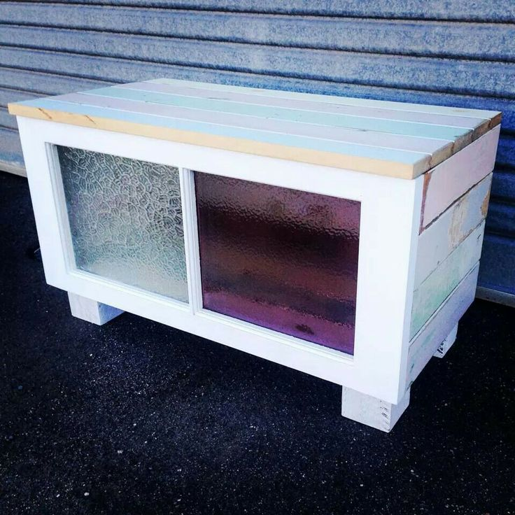 Recycled Vj Boards And Casement Window Bench Seat Storage