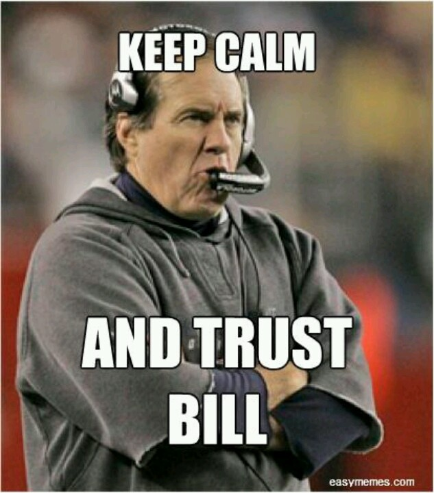 The Genius Bill Belichick,head coach of NFL team New England Patriots.