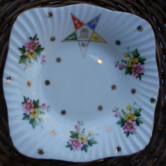 OES Trinket Dish Elizabethan Fine Bone China Order of the