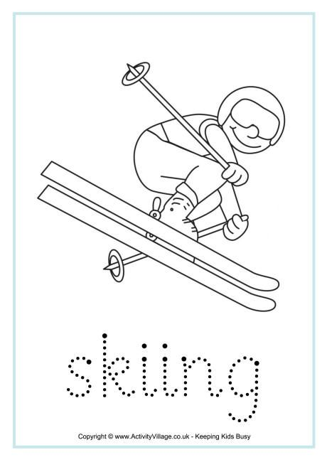 Skiing tracing