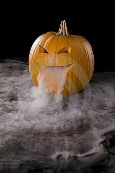 Dry ice in a pumpkin - spooky!