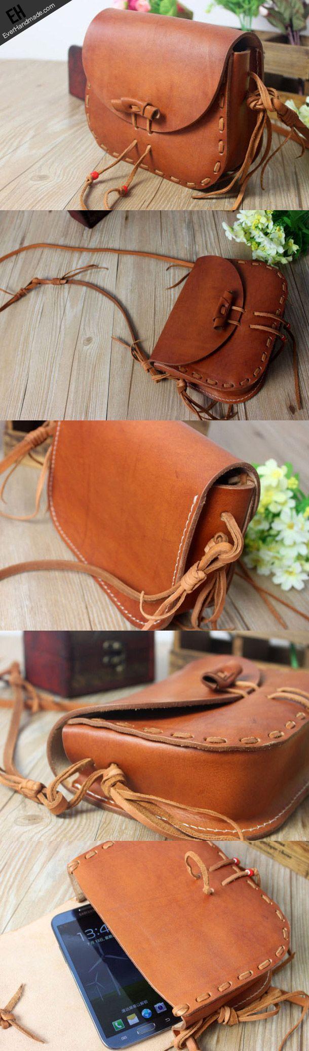 Handmade leather Satchel School crossbody messenger Shoulder Bag for w | EverHandmade