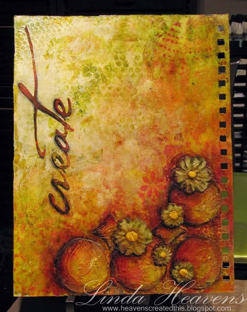 Linda Heavens: art journalling Love the colors!