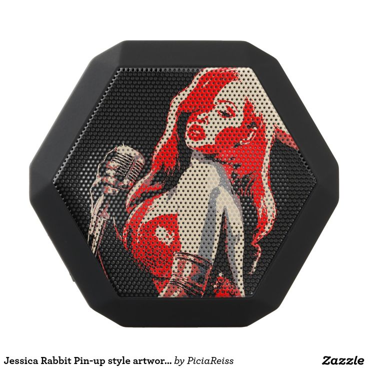 Jessica Rabbit Pin-up style artwork speakers