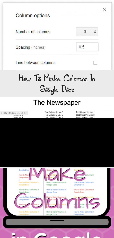 How to make columns in google docs google docs google