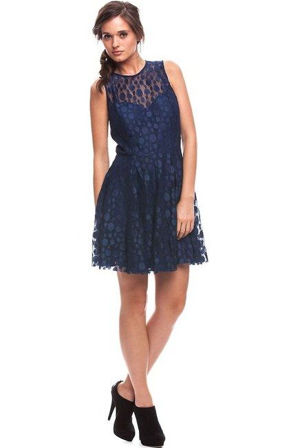 Armani Exchange Lace Fit + Flare Dress