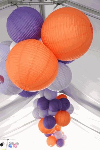 orange and purple clusters