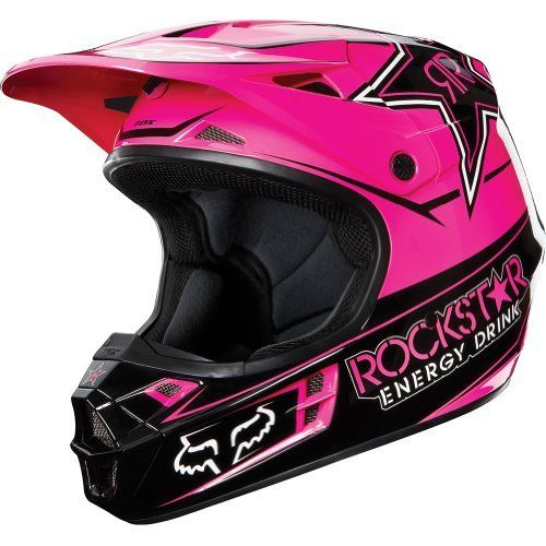 Rockstar Energy Drink Officially Licensed Fox Mens V1 MX/Off-Road/Dirt Bike Motorcycle Helmet - Black/Pink / X-Small by Fox Racing, http://www.amazon.com/dp/B008XTONH6/ref=cm_sw_r_pi_dp_52xMrb1YAAHYX