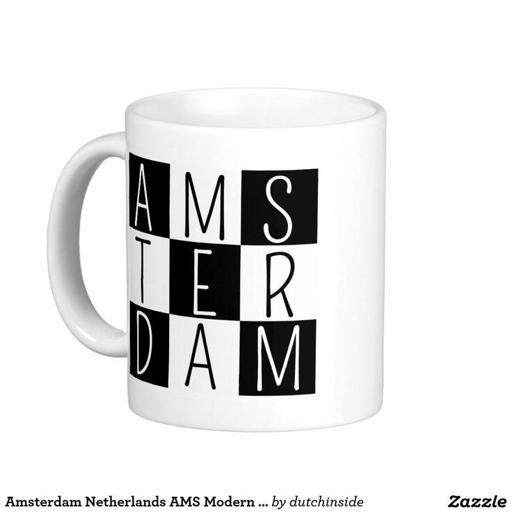 Amsterdam Netherlands AMS Modern Block Design Coffee