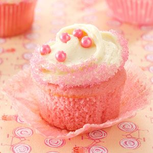 Pink Velvet Cupcakes Recipe from Taste of Home