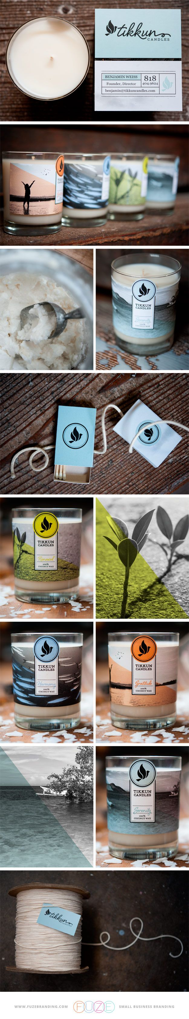 Fuze Branding | Tikkun Candles - the business cards