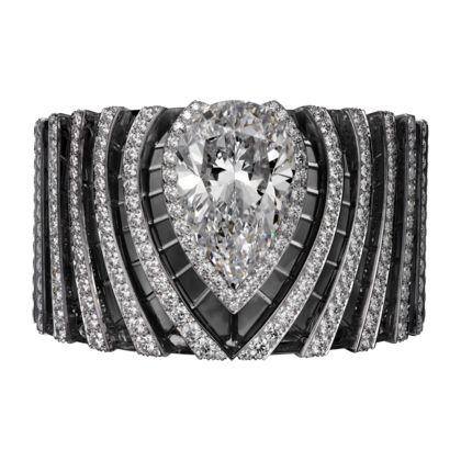 Cartier  HIGH JEWELRY BRACELET White gold, one 63.66-carat pear-shaped diamond, rock crystal, brilliants
