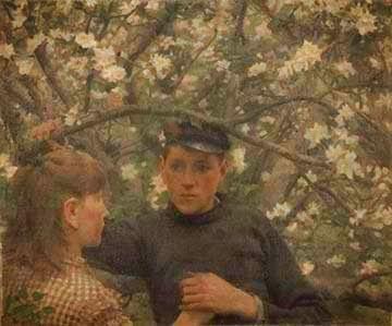 H. Tuck, Η υπόσχεση. 1888. Εθνική Πινακοθήκη Σκοτίας. Συλλογή Walker. Μουσεία του Λίβερπουλ.