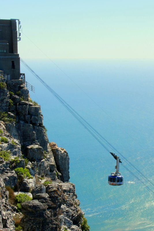 Table Mountain cable car, Cape Town That was scary shit!!