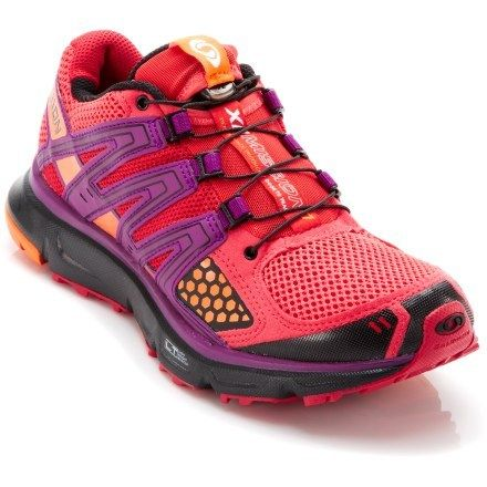 Terrain-tackling, short- to middle-distance training shoes. Women's Salomon XR Mission Trail-Running Shoes