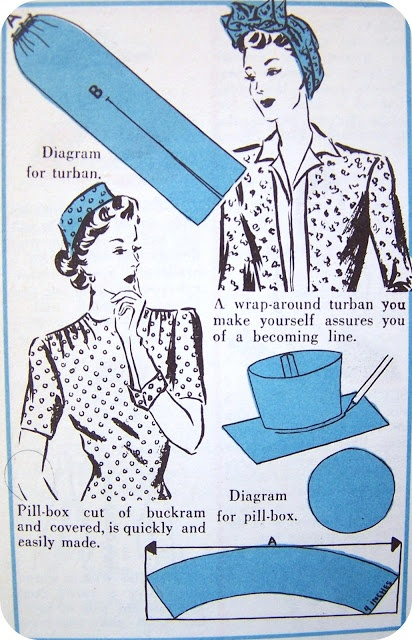 Vintage millinery instructions (turban and pillbox)