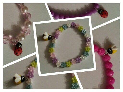 Children's bracelets,  spring bugs Made by Marina facebook.com/madebmarina