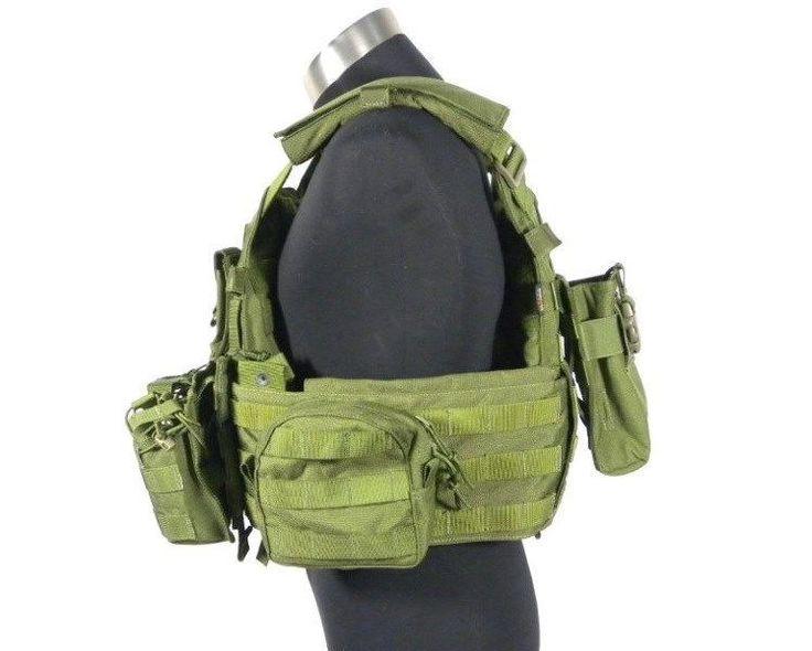 Военный тактический жилет молл военная TMC0557 военно-cordura 6094 стиль несущей пластине OD w / 6 pouches спортивный жилет