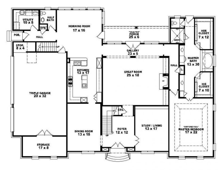 Beautiful Simple Four Bedroom House Plans Design Open