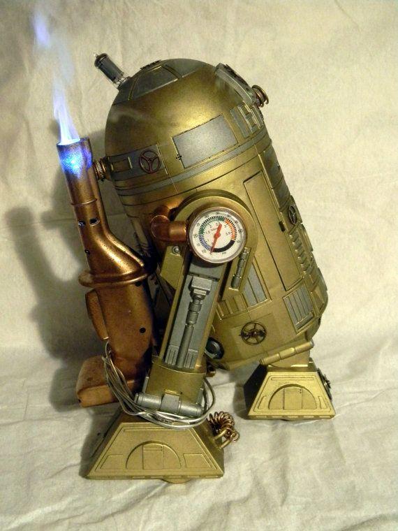 Steampunk Modded Interactive Star Wars R2D2 Toy by darkprofessor