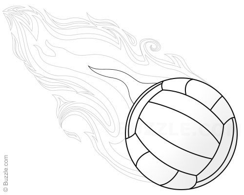Flaming Volleyball Step 9 Drawings In 2019 Drawings Volleyball