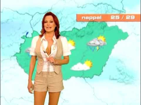 very sexy weather news from hungary - YouTube
