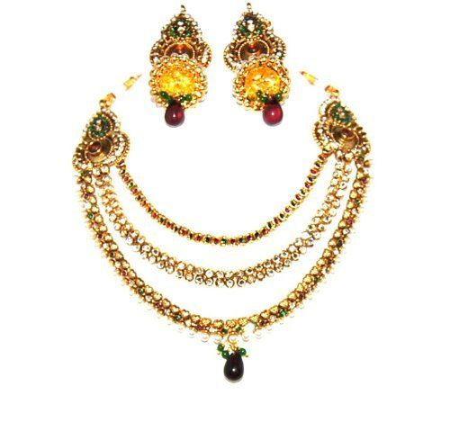 arrascreations amazon images necklace gold indian exclusive best one on set pinterest gram jewelry bollywood
