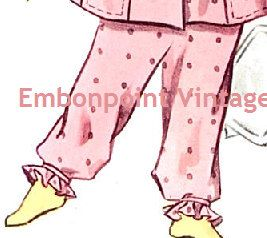 New to EmbonpointVintage on Etsy: Plus Size (or any size) Vintage 1950s Nightgown Pattern - PDF - Pattern No 209b Ruby Pyjama Pants (6.21 AUD)