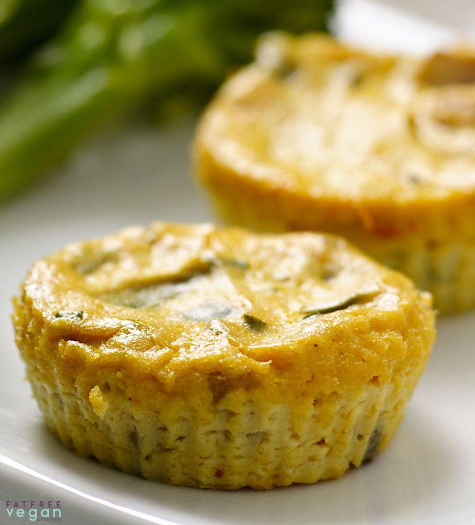 Mini Crustless Tofu Quiches Fatfree Vegan Kitchen Recipe Quiche Recipes Food Processor Recipes Food