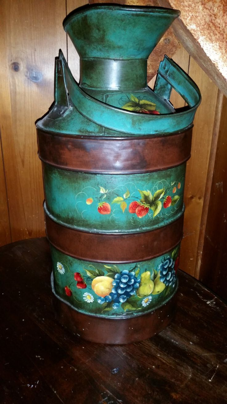 Painted Milk Cans For Sale
