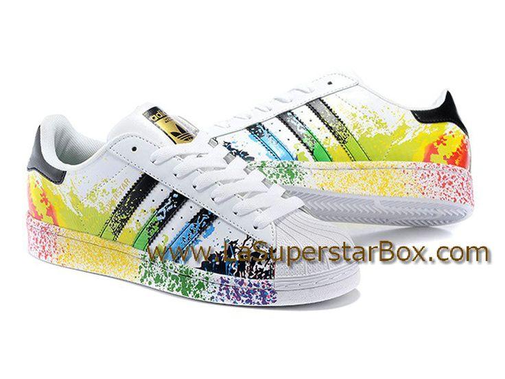 Adidas Originals Chaussures Homme/Femme Superstar LGBT Pride Pack Noir/Blanc D70351-Distributeur Officiel de la marque ADIDAS en France. Retrouvez toutes nos chaussures ADIDAS sur LaSuperstarBox.com.