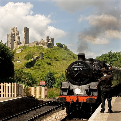Catch a steam train from Norden Park and Ride and enjoy one of the best train journeys in England to Corfe Castle to Swanage Seaside.