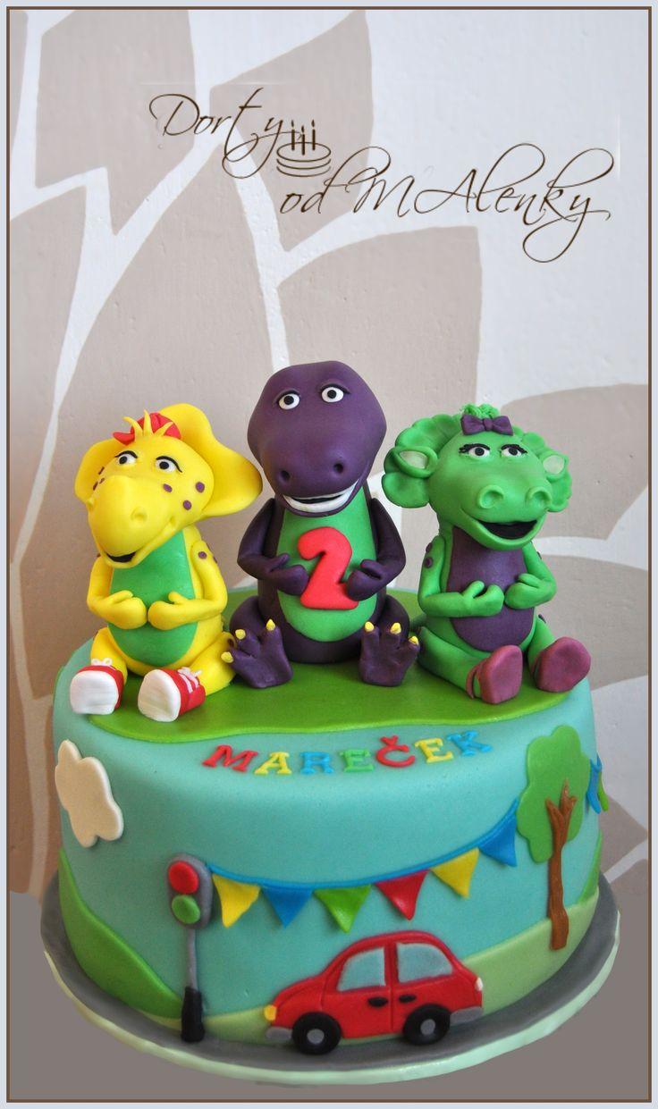 Barney a přátelé pro kluky, Cake Barney and friends for boys, Barney fondant