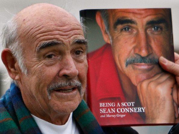 Sir Sean Connery unveils his new book entitled Being A Scott at the Edinburgh book festival August 25, 2008 in Edinburgh, Scotland. The laun...
