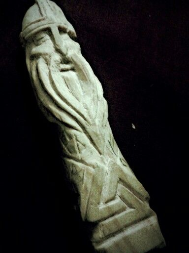 Tribute to Odin that I carved myself out of wood, about 4 ...