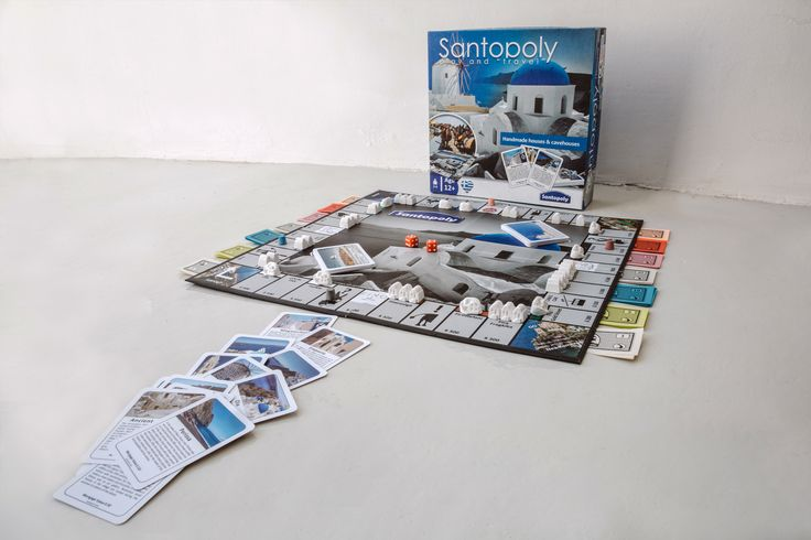 Get your Santorini dream house with Santopoly, Santorini Board Game #santopoly #playandtravel #santorini #handmade