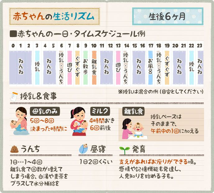 9 ヶ月 リズム 生後 生活 生後9カ月の生活リズムと一日の過ごし方。睡眠と母乳、ミルク別の離乳食スケジュール 子育て情報メディア「KIDSNA(キズナ)」