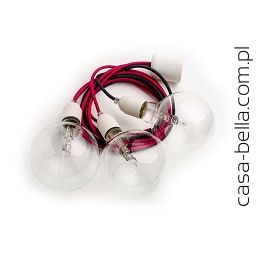 Kolorowe Kable Loft Multi Plastic X3 Lampa wisząca