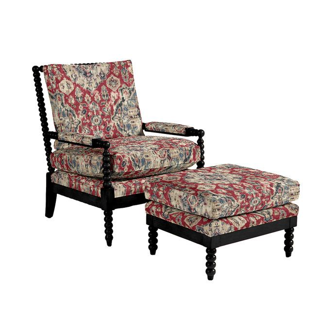 Shiloh Spool Chair And Ottoman Spool Chair Chair And Ottoman Chair