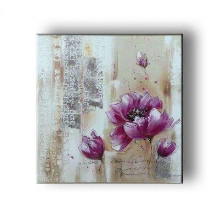 Tableau Peinture Coquelicot abstrait chez Deco Soon, spécialiste de votre décoration d'intérieur. Satisfait ou remboursé, livraison et retour gratuits.