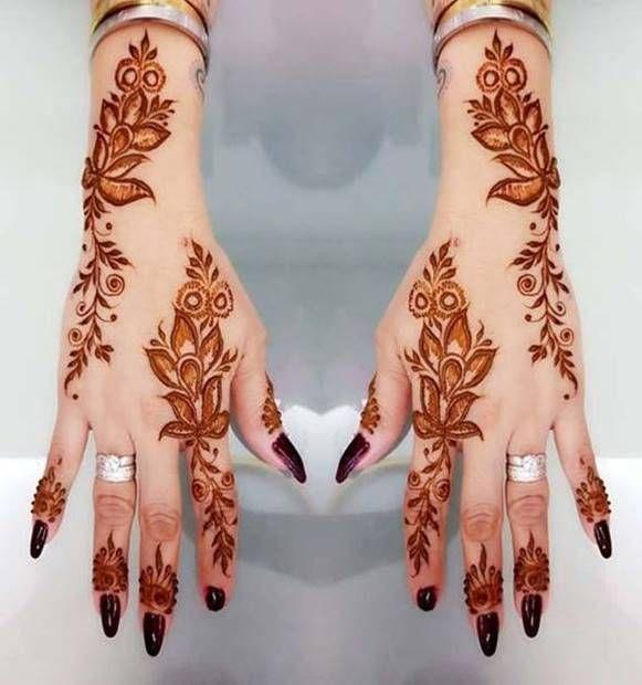 تعلم نقش الحناء للمبتدئين مع افضل تصاميم الحناء نقش حناء رسم حناء Henna Tattoo Latest Mehndi Designs Mehndi Designs For Hands Henna Designs Hand