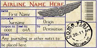 vintage airline tickets - Google Search