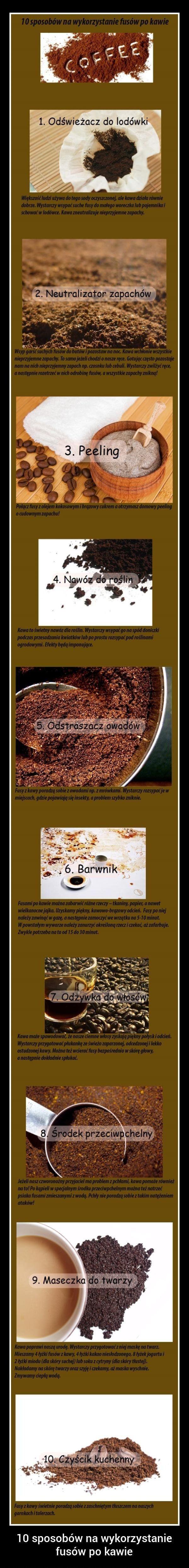 10 sposobów na wykorzystanie fusów z kawy...