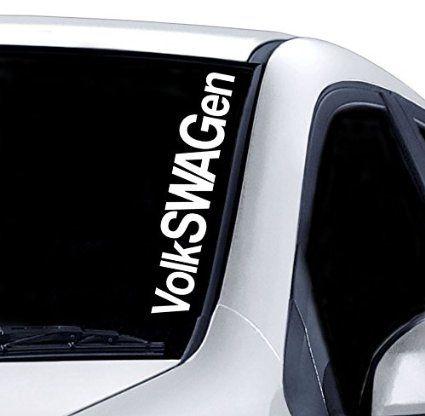 VOLKSWAGEN WINDSCREEN STICKER VW GOLF POLO FUNNY CAR VAN 4X4 JDM DRIFT WINDOW PAINTWORK DECAL GRAPHIC